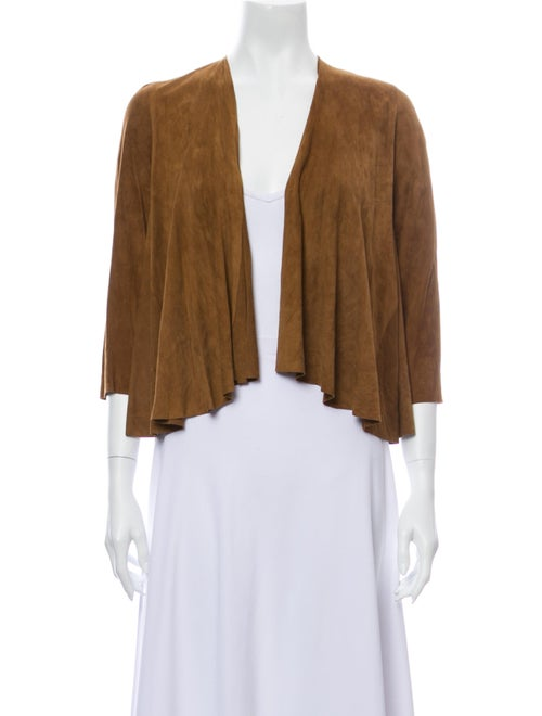 Calypso Suede Open Front Sweater