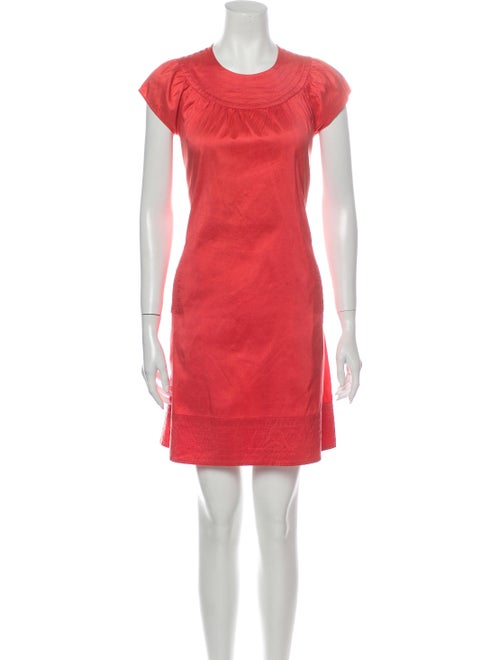 Calypso Silk Mini Dress Orange