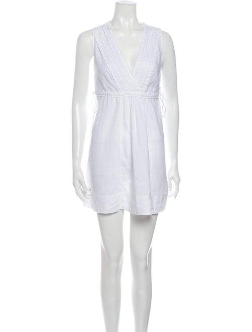 Calypso Linen Mini Dress White - image 1
