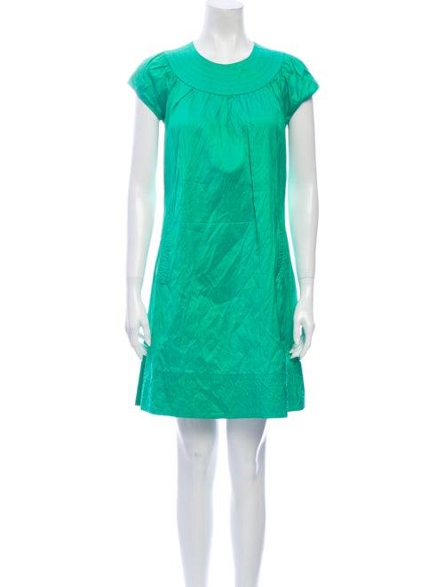 Calypso Silk Mini Dress Green