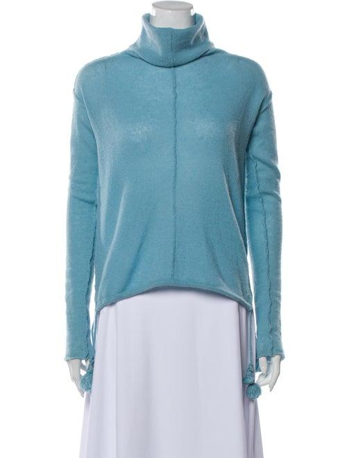 Calypso Cashmere Turtleneck Sweater Blue