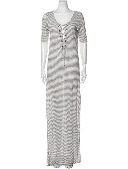 Calypso Linen Long Dress White