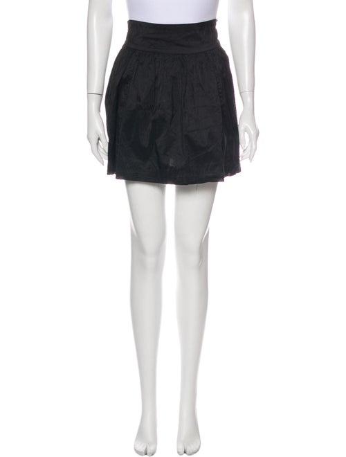 Calypso Silk Mini Skirt Black