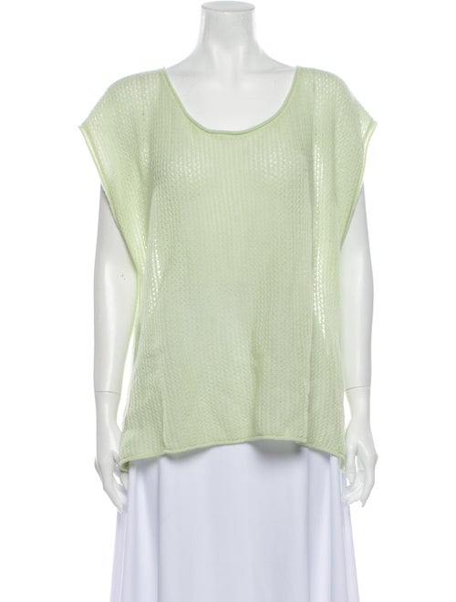 Calypso Cashmere Scoop Neck Sweater Green