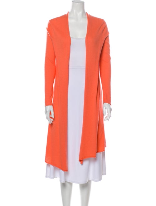 Calypso Cashmere Open Front Sweater Orange