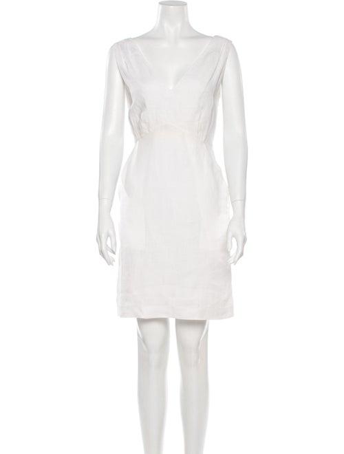 Calypso Linen Mini Dress White