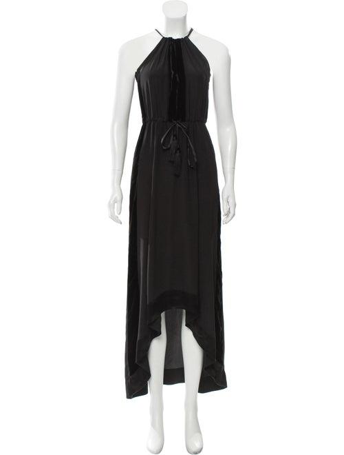 Calypso Silk Long Dress Black