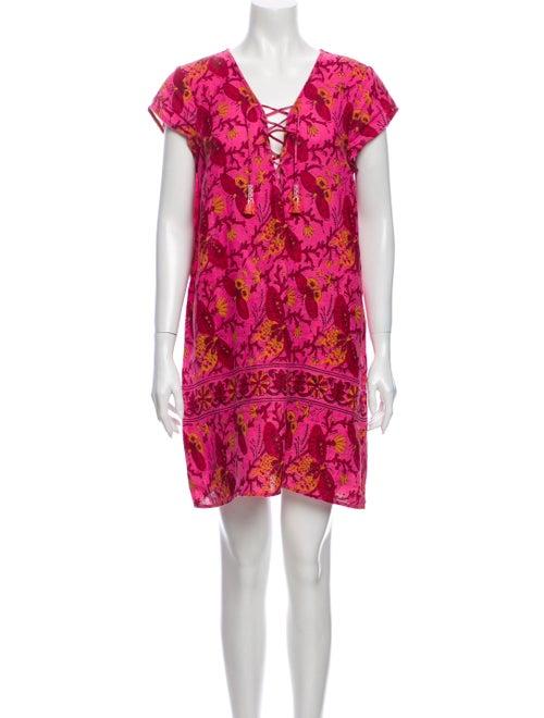 Calypso Linen Mini Dress Pink