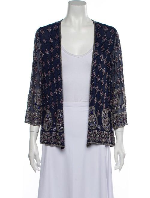Calypso Silk Evening Jacket Blue