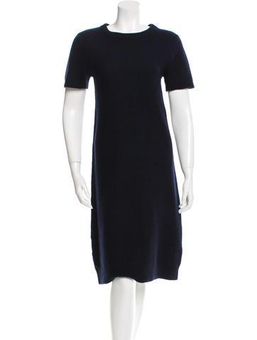 Creatures of Comfort Wool Short Sleeve Dress None