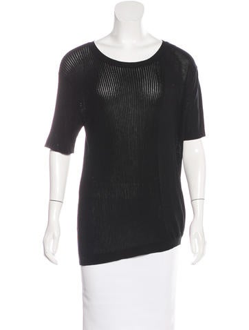 Creatures of Comfort Rib Knit Short Sleeve Top None