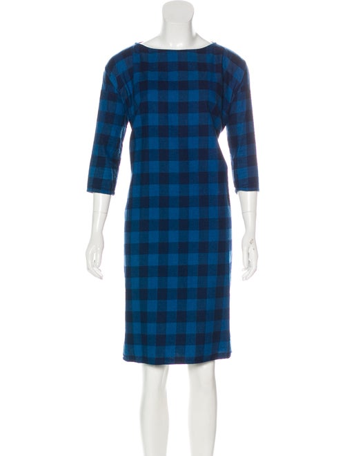 Creatures of Comfort Oversized Gingham Dress Blue