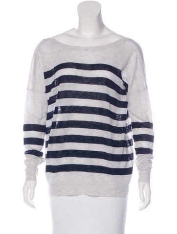 360 Cashmere Striped Cashmere Sweater None