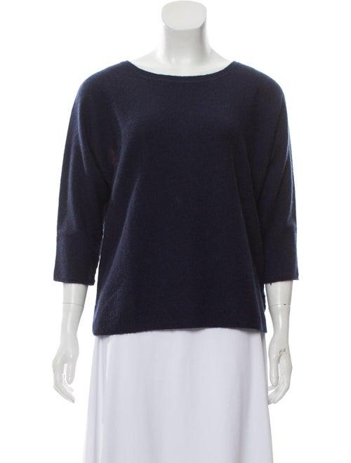 360 Cashmere Cashmere Intarsia Sweater Navy
