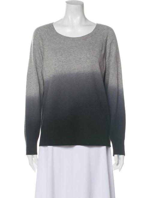 360 Cashmere Cashmere Tie-Dye Print Sweater Grey