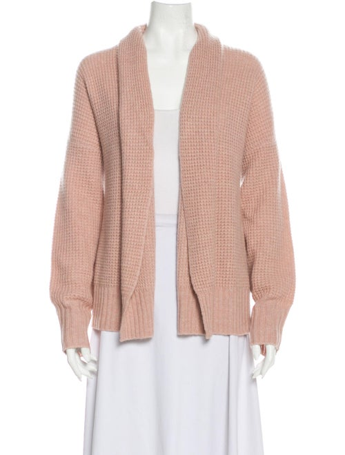360 Cashmere Cashmere Open Front Sweater Pink