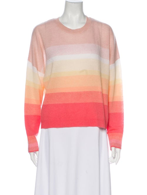 360 Cashmere Cashmere Striped Sweater Pink