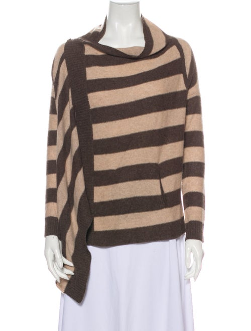 360 Cashmere Cashmere Striped Sweater Brown