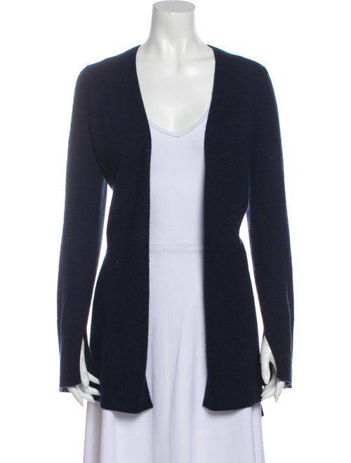 360 Cashmere Cashmere Open Front Sweater Blue