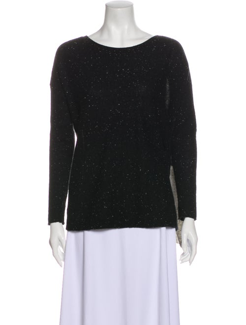 360 Cashmere Cashmere Scoop Neck Sweater Black