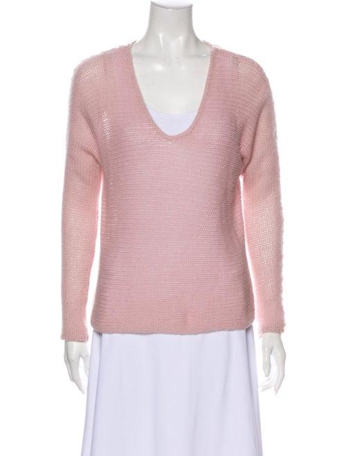 360 Cashmere Cashmere V-Neck Sweater Pink