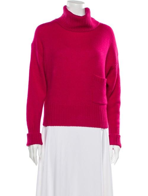 360 Cashmere Cashmere Turtleneck Sweater Pink