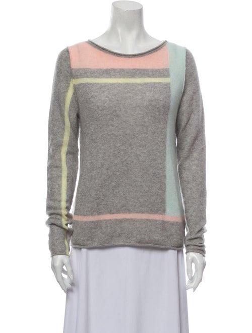360 Cashmere Cashmere Striped Sweater Grey