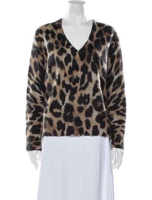 360 Cashmere Cashmere Animal Print Sweater