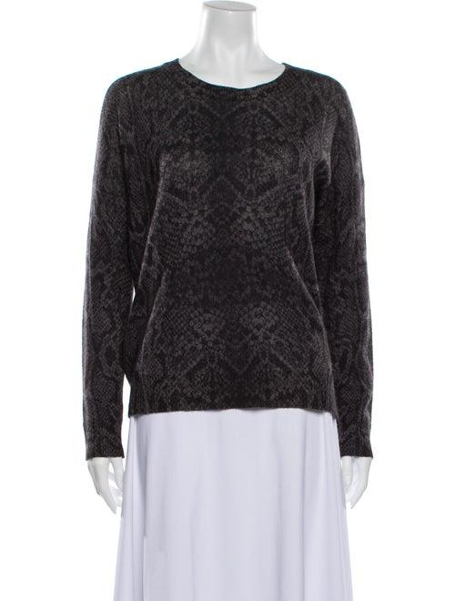360 Cashmere Cashmere Scoop Neck Sweater Grey