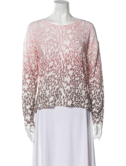 360 Cashmere Cashmere Animal Print Sweater Pink