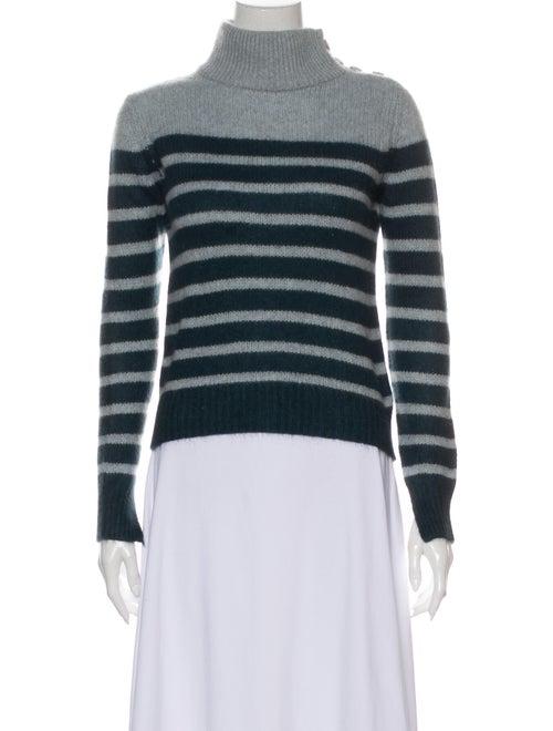 360 Cashmere Cashmere Striped Sweater Blue