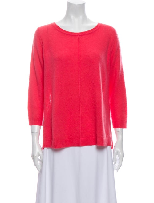 360 Cashmere Cashmere Scoop Neck Sweater Pink