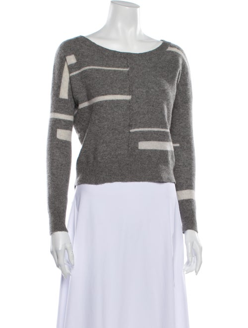 360 Cashmere Cashmere Striped Sweater Grey