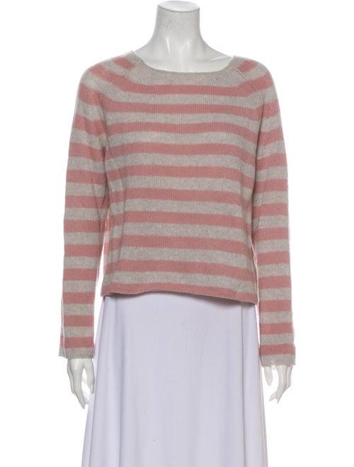 360 Cashmere Cashmere Striped Sweater Pink
