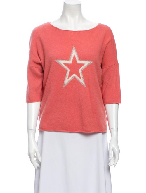 360 Cashmere Cashmere Printed Sweater Pink