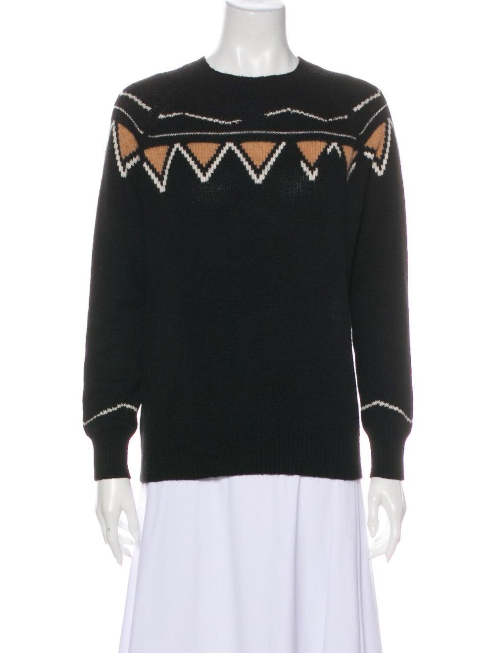 360 Cashmere Cashmere Patterned Sweater Black - image 1