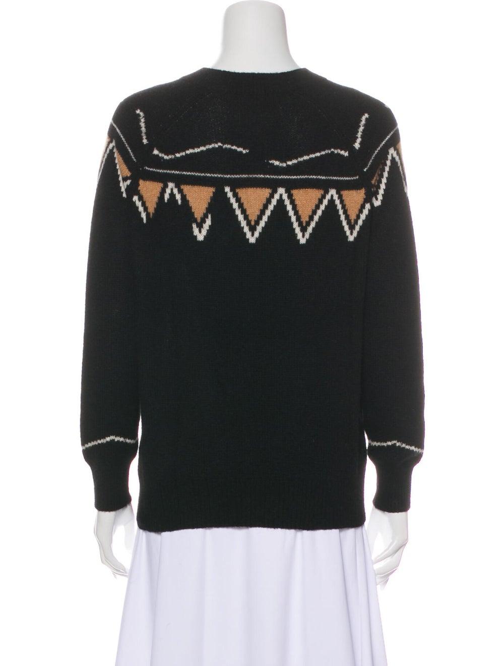 360 Cashmere Cashmere Patterned Sweater Black - image 3