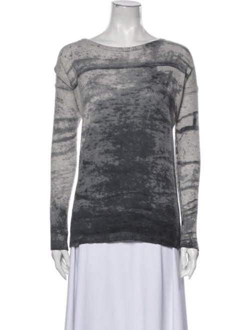 360 Cashmere Cashmere Tie-Dye Print Sweater Grey - image 1