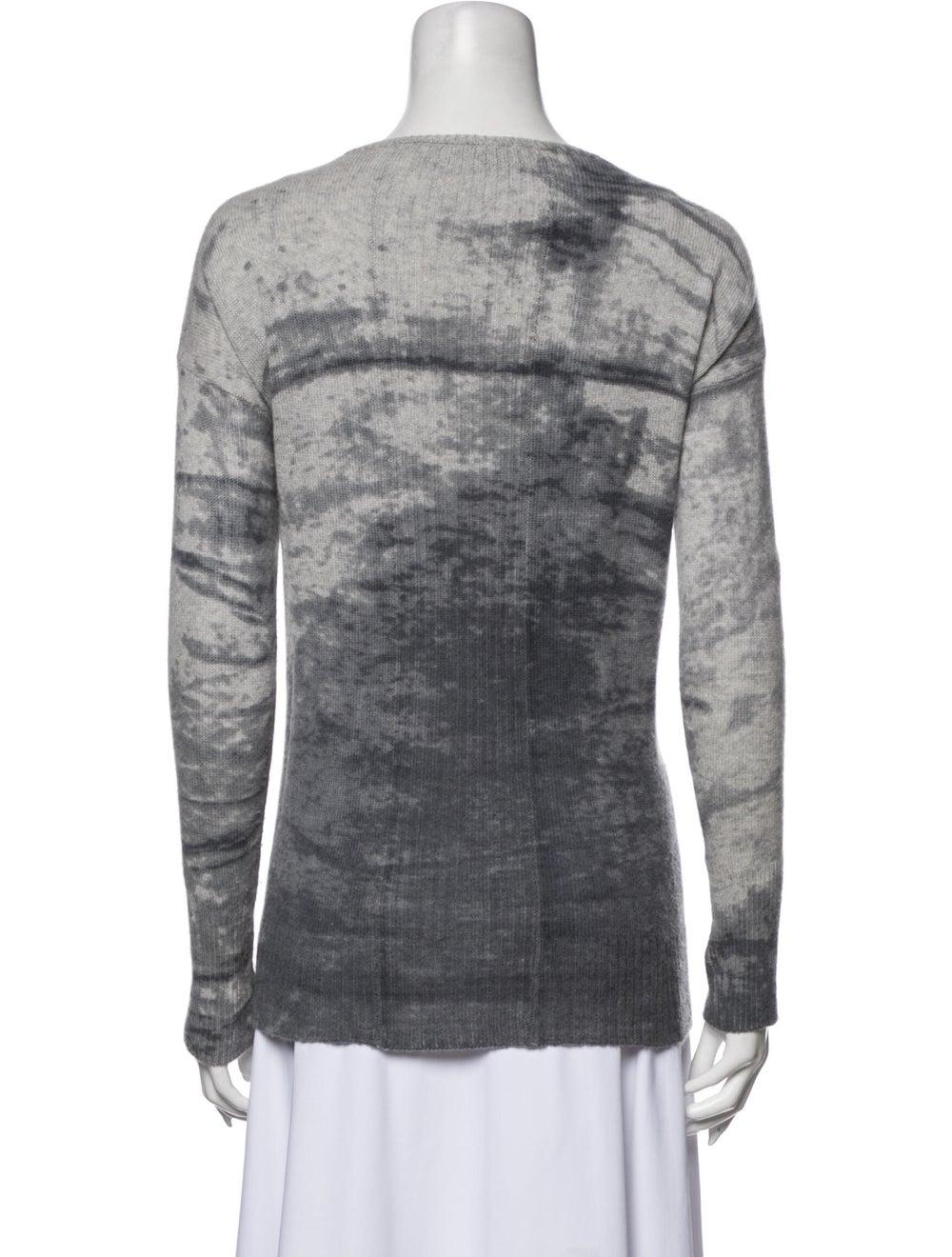 360 Cashmere Cashmere Tie-Dye Print Sweater Grey - image 3