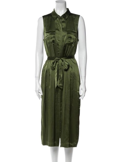 Cami NYC Silk Midi Length Dress Green