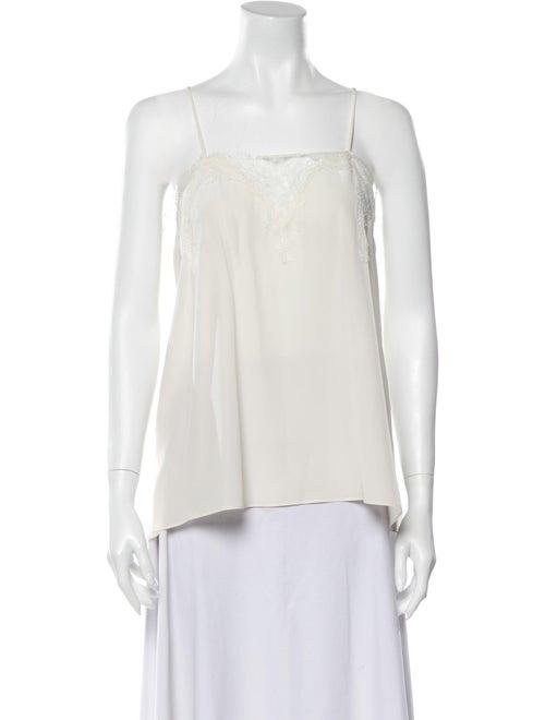 Cami NYC Silk Square Neckline Blouse White