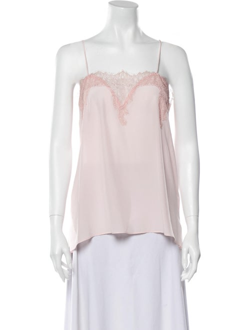 Cami NYC Silk Square Neckline Blouse Pink - image 1
