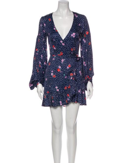 Capulet Floral Print Mini Dress Blue