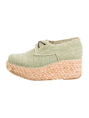 Carven x Robert Clergerie Platform Raffia Oxfords newest cheap price cheap sale high quality new styles cheap price with paypal online buy cheap collections 5vfjNqFxf