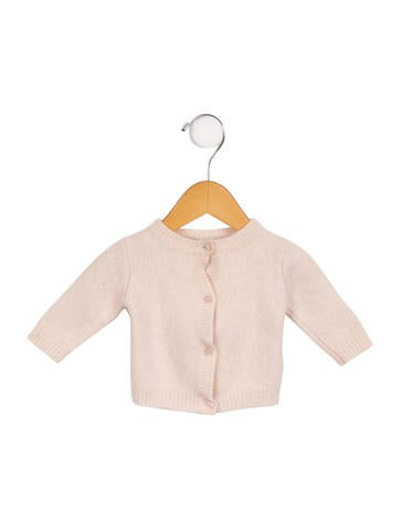 Caramel Baby & Child Girls' Cashmere Rib Knit-Trimmed Cardigan None