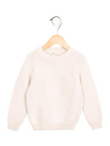 Caramel Baby & Child Girls' Angora & Wool-Blend Crew Neck Sweater None