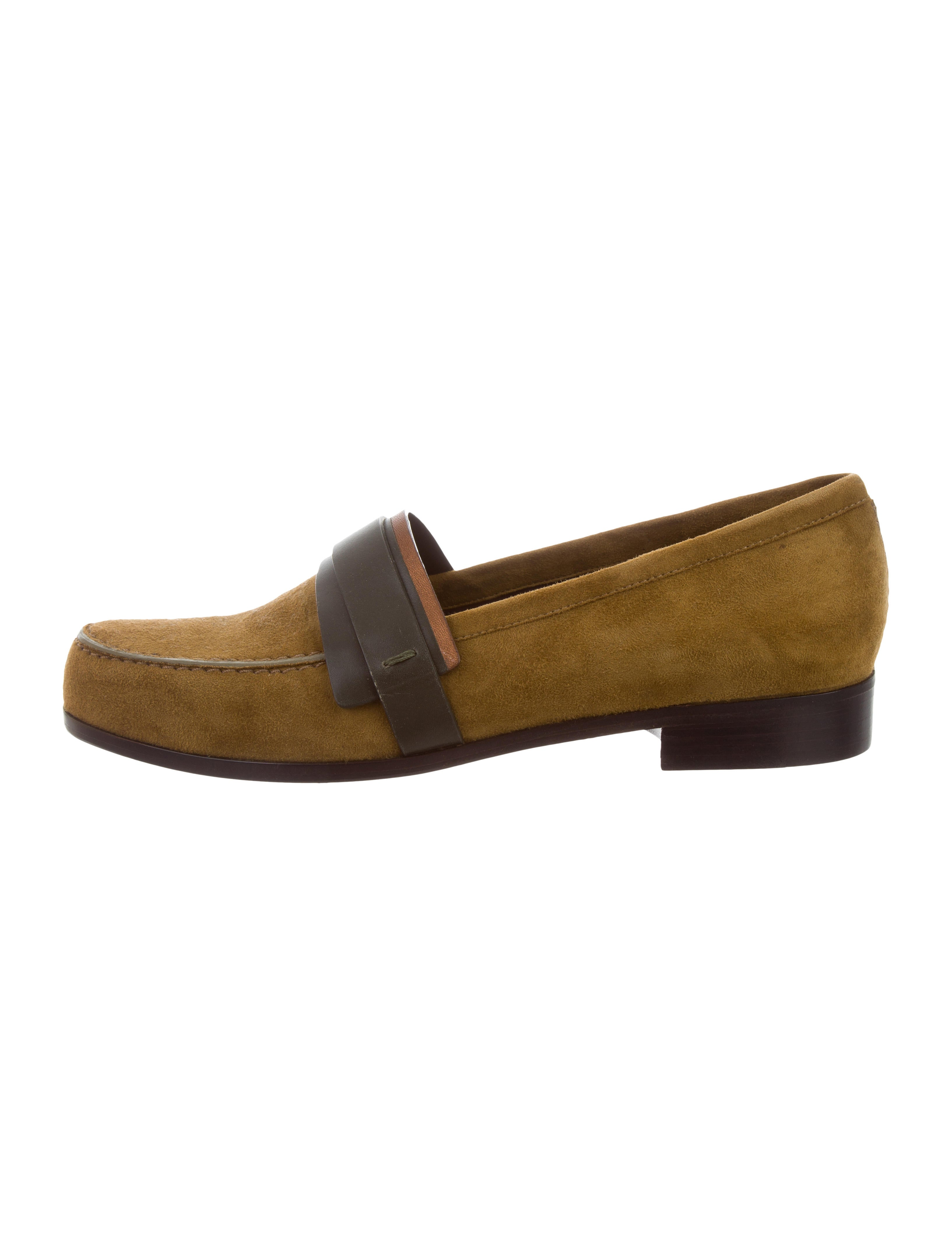 sale choice Carritz Suede Round-Toe Loafers w/ Tags clearance fashionable M9BZqfen