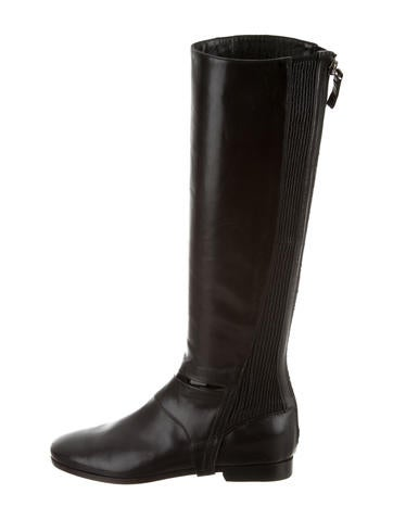 Carritz Leather Knee-High Boots big discount low shipping online FYvoz