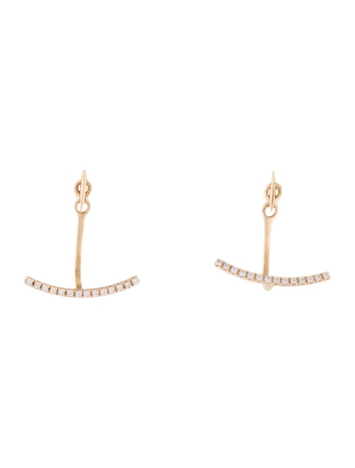 Catbird 14K Diamond Earring Jackets Yellow