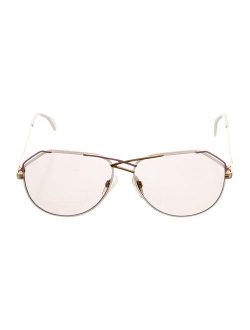 Cazal Aviator Tinted Sunglasses white